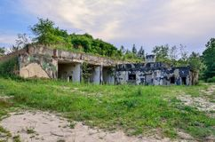 Vecchia base di razzo Fotografia Stock