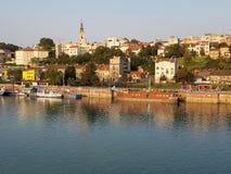 Vecchia Belgrado - vista da Branko& x27; ponte di s immagine stock