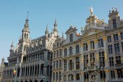 Vecchia bella facciata a Grand Place a Bruxelles, Belgio Fotografie Stock