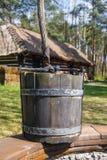 Vecchia benna di legno Fotografie Stock Libere da Diritti