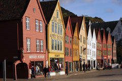 Vecchia Bergen Fotografia Stock