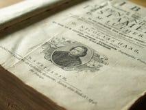 Vecchia bibbia illustrata Fotografie Stock