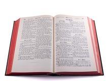 Vecchia bibbia tedesca - salmo immagini stock