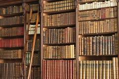 Vecchia biblioteca con la scala Immagini Stock
