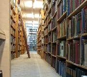 Vecchia biblioteca d'annata Fotografie Stock Libere da Diritti