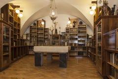 Vecchia biblioteca del monastero Fotografie Stock Libere da Diritti