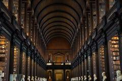 Vecchia biblioteca della Trinity College, Dublino Fotografia Stock Libera da Diritti
