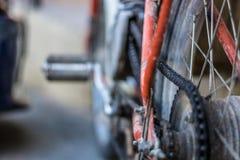 Vecchia bici del motore Immagine Stock