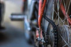 Vecchia bici del motore Fotografie Stock