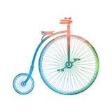 Vecchia bicicletta dell'acquerello Immagine Stock Libera da Diritti
