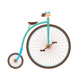 Vecchia bicicletta di colore Immagini Stock Libere da Diritti