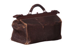 Vecchia borsa della medicina Immagine Stock