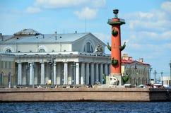 Vecchia borsa valori di St Petersburg Fotografie Stock Libere da Diritti