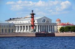Vecchia borsa valori di St Petersburg Immagini Stock Libere da Diritti