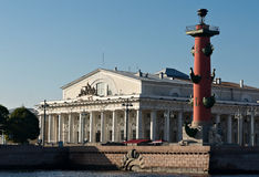 Vecchia borsa valori di St Petersburg Fotografia Stock Libera da Diritti