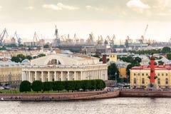 Vecchia borsa valori di St Petersburg Fotografia Stock