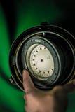 Vecchia bussola russa d'annata Fotografia Stock