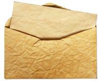 Vecchia busta con la lettera all'interno fotografia stock