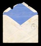 Vecchia, busta portata e stracciata Fotografia Stock