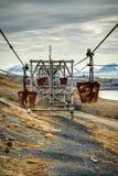 Vecchia cabina di funivia per il trasporto di carbone HDR Immagini Stock Libere da Diritti