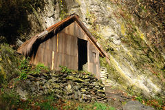 Vecchia cabina di legno Immagini Stock