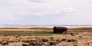 Vecchia cabina di legno abbandonata Immagini Stock