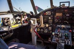 Vecchia cabina di pilotaggio Immagine Stock Libera da Diritti