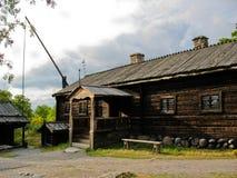 Vecchia cabina ecologica svedese Immagine Stock Libera da Diritti