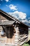 Vecchia cabina sulle pianure Immagini Stock