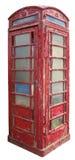Vecchia cabina telefonica Immagine Stock