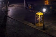 Vecchia cabina telefonica Fotografia Stock