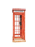 Vecchia cabina telefonica rossa Fotografia Stock Libera da Diritti