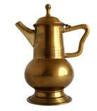 Vecchia caffettiera d'ottone Fotografia Stock Libera da Diritti