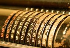 Vecchia calcolatrice Fotografie Stock