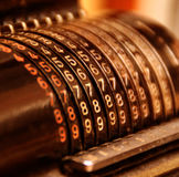 Vecchia calcolatrice Fotografia Stock