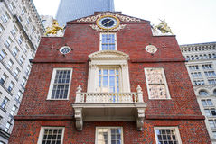 Vecchia Camera Boston dello stato del balcone di marmo immagine stock libera da diritti