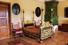 Vecchia camera da letto d'annata Fotografia Stock