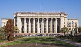 Vecchia Camera di governo a Almaty Immagine Stock Libera da Diritti