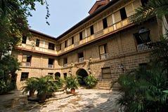 Vecchia Camera o cortile ancestrale filippina del palazzo Fotografia Stock