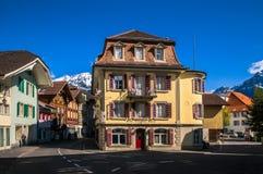 Vecchia Camera svizzera a Unterseen - Interlaken, Svizzera Fotografie Stock