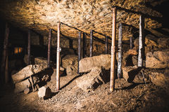 Vecchia camera in una miniera d'argento, Tarnowskie sanguinoso, sito di eredità dell'Unesco Fotografia Stock