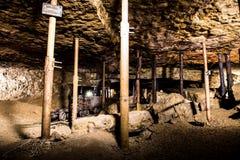 Vecchia camera in una miniera d'argento, Tarnowskie sanguinoso, sito di eredità dell'Unesco Fotografia Stock Libera da Diritti