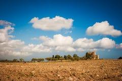 Vecchia campagna siciliana Fotografia Stock