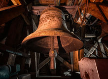 Vecchia campana di chiesa fotografia stock