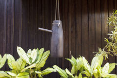 Vecchia campana di legno in Tailandia del Nord Fotografie Stock Libere da Diritti
