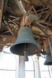 Vecchia campana sulla torre della cattedrale di St Mark a Venezia Italia fotografie stock libere da diritti