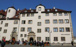 Vecchia cancelleria, facciata a Schillerplatz, Stuttgart, Germania Fotografie Stock