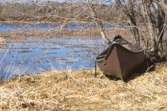 Vecchia canoa fotografia stock libera da diritti
