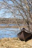 Vecchia canoa fotografia stock
