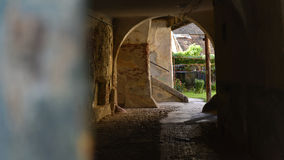 Vecchia capanna a Sibiu, la Transilvania, Romania Fotografie Stock Libere da Diritti